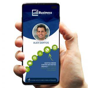 Cartão de Visita Digital Marketing e Agência de Comunicação