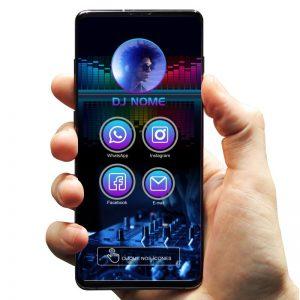 Cartão de Visita Digital para DJ, Festas e Baladas Noturnas
