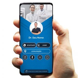 Cartão de Visita Digital Dentista e Consultórios Odontológicos