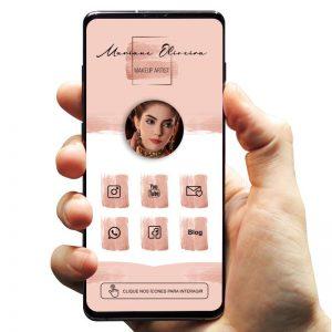 Cartão de Visita Digital Interativo Maquiagem Makeup