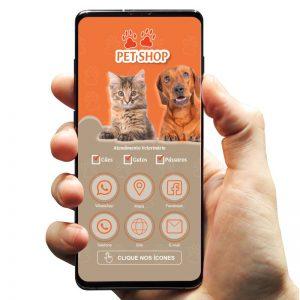 Cartão de Visita Digital Interativo Petshop