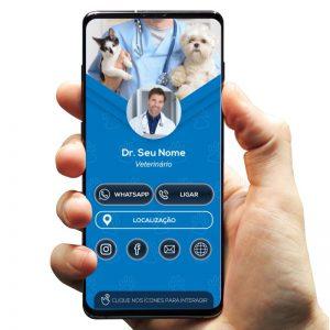 Cartão de Visita Digital Veterinário, Clínica Veterinária