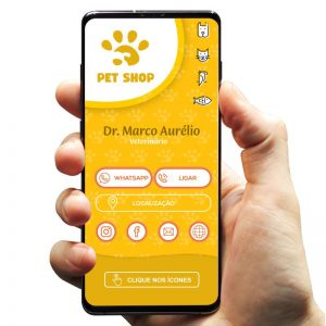 Cartão de Visita Digital Interativo Veterinário e Petshop