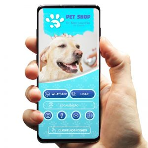 Cartão de Visita Digital Interativo Petshop Banho e Tosa