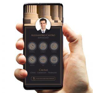 Cartão de visita digital advogado