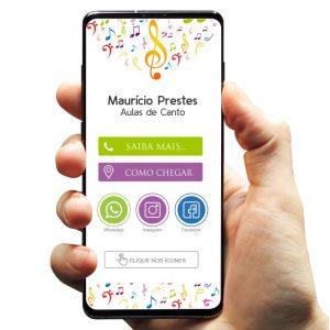 Cartão de Visita Digital interativo Músico / Aulas de Canto