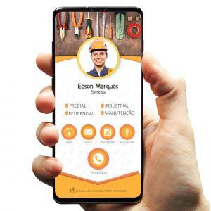 Cartão de Visita Digital Interativo Eletricista