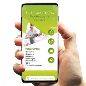Cartão de Visita Digital Fisioterapia