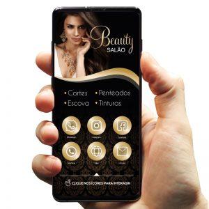 Cartão de Visita Digital Cabeleireira / Salão de Beleza