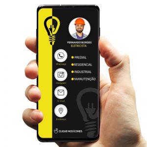 Cartão de Visita Digital Eletricista