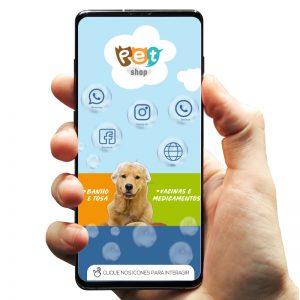 Cartão de Visita Digital Petshop Banho e Tosa