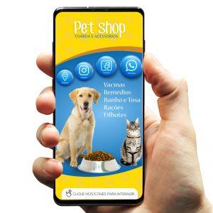 Cartão de Visita Digital Petshop Comida e Acessórios