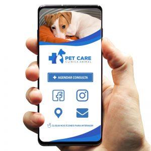 Cartão de Visita Digital Clínica Veterinária (Interativo)
