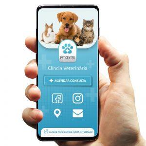 Cartão de Visita Digital para Clínica Veterinária