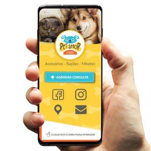 Cartão de Visita Digital Petshop (Interativo)