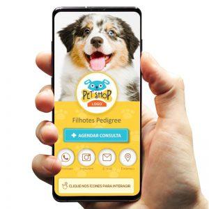Cartão de Visita Digital Petshop Filhotes (Interativo)