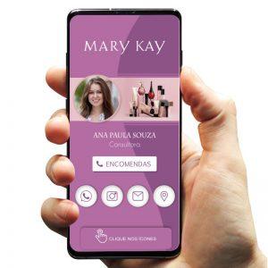 Cartão de Visita Digital Consultora Mary Kay (Interativo)