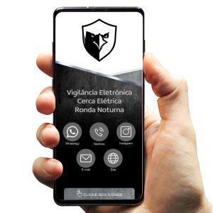 Cartão de Visita Digital Empresa Segurança Eletrônica (Interativo)
