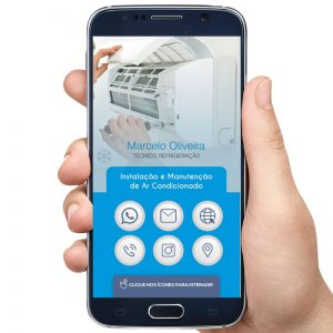 Cartão de Visita Digital Instalador de Ar Condicionado (Interativo)