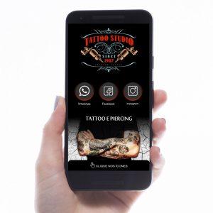 Cartão de Visita Digital Tattoo Studio (Interativo)