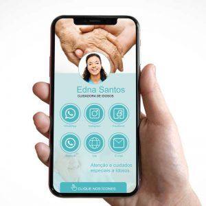 Cartão de Visita Digital Cuidadora de Idosos (Interativo)