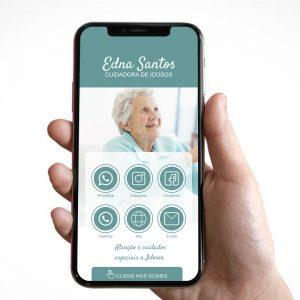 Cartão de Visita Digital Cuidador(a) de Idosos (Interativo)