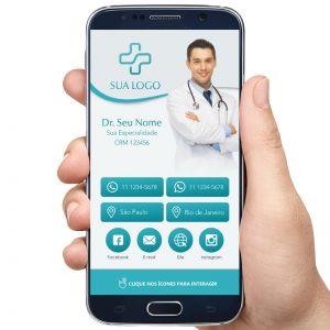 Cartão de Visita Digital Dentista, Médico e Clínicas Médicas