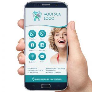cartão de visita digital consultório odontológico, dentista