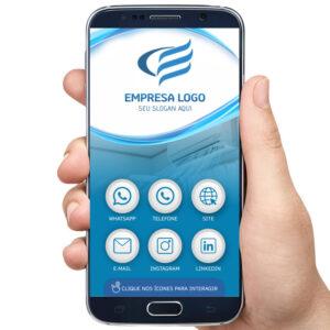 Cartão de visita digital refrigeração, técnico ar condicionado, instalações de ar condicionado