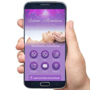 Cartão de visita digital Acupuntura, terapias e tratamentos alternativos