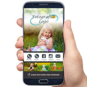 Cartão de visita digital fotógrafo, estúdio fotográfica, fotografia