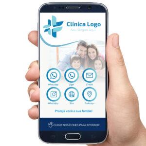 Cartão de visita digital clínica médica, planos de saúde, medicina , clínica geral
