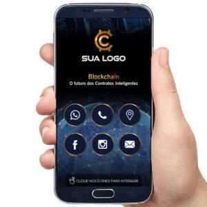 cartão interativo blockchain criptomoedas