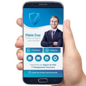 cartão interativo corretor de seguros, executivo