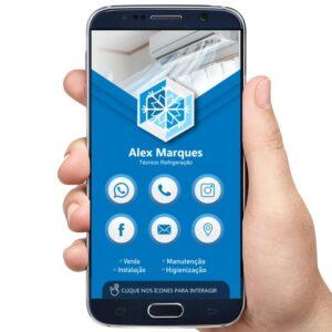 cartão interativo refrigeração, instalação de ar condicionado