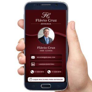 Cartão de visita digital interativo advogado