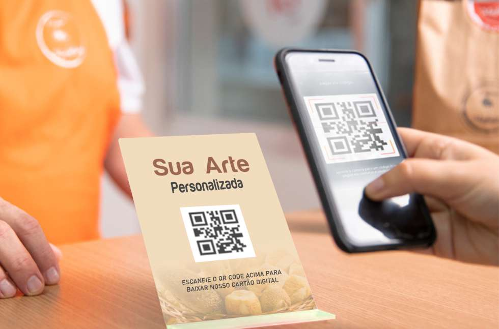 cartão de visita digital + qr code