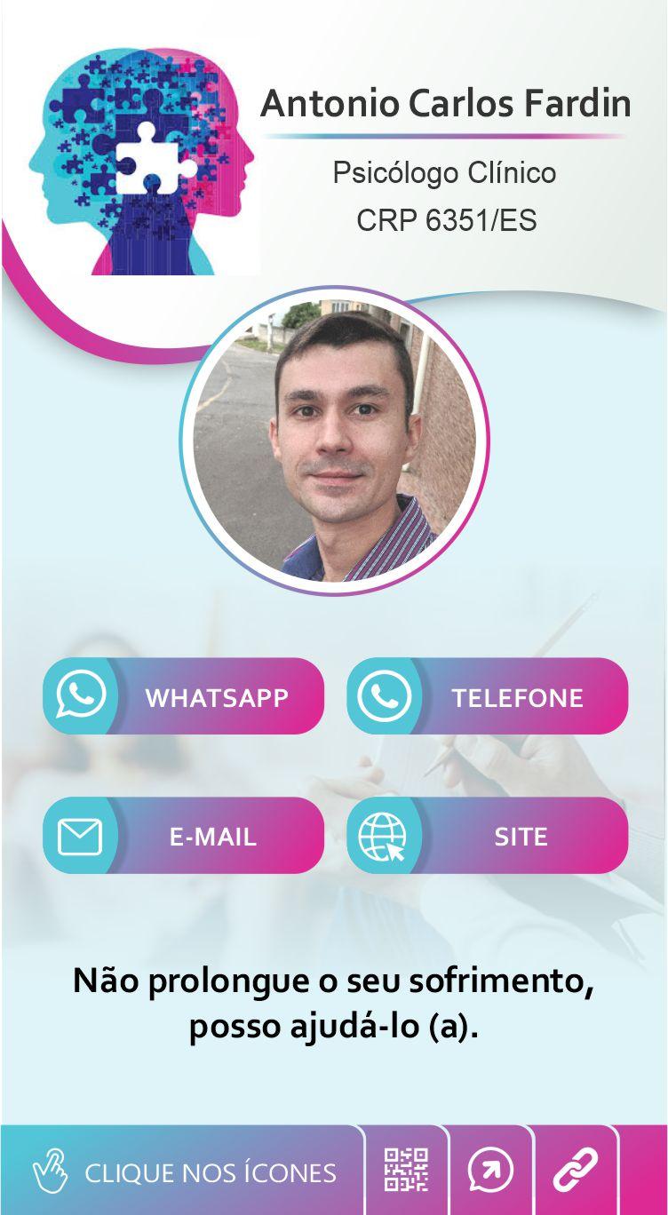 cartão de visita digital interativo Antonio Carlos Fardin