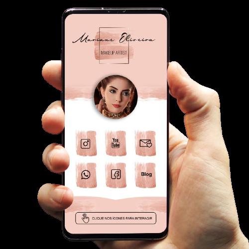 imagem cartão de visita digital maquiagem