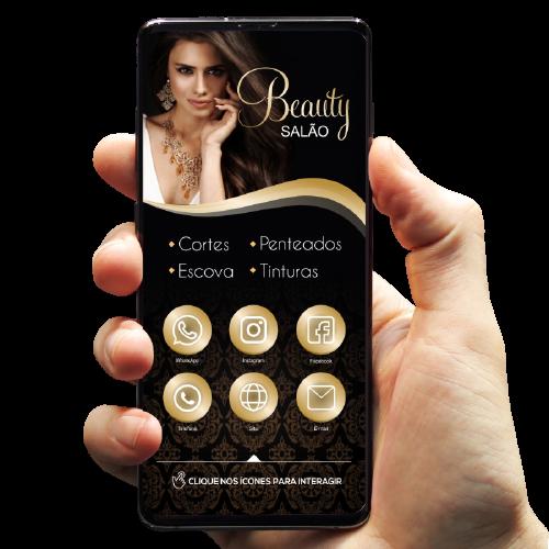 imagem cartão de visita digital salão de beleza