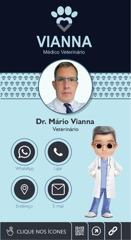 Cartão de Visita Digital Interativo Dr. Mário Vianna