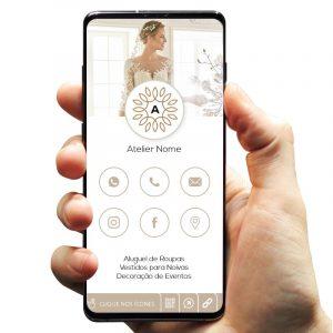 Cartão de Visita Digital Atelier Aluguel de Roupas para Casamento