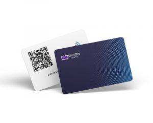 cartão de visita digital nfc qr code e aproximação